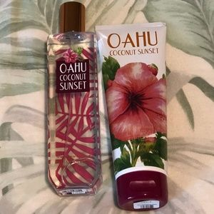 Bath and Body Works Oahu Coconut Sunset Bundle